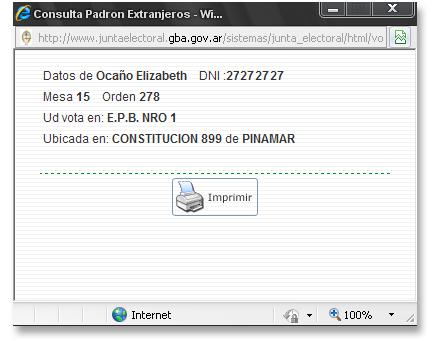 consulta de padron en pinamar - voto electronico 2010