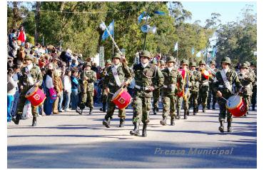 desfile militar en pinamar