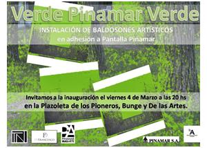 verde pinamar con artistas locales