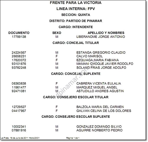 elecciones pinamar 2011 liberanome