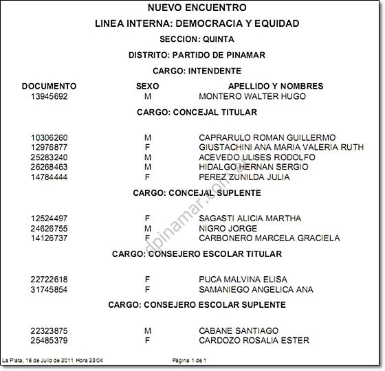 elecciones pinamar 2011 montero