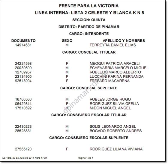 eleciones pinamar 2011 ferreyra