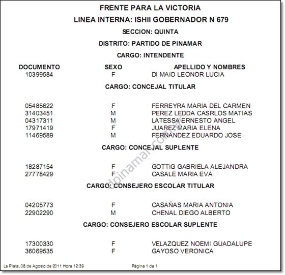 elecciones pinamar 2011 di maio