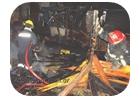 Incendio dominado por bomberos voluntarios de pinamar