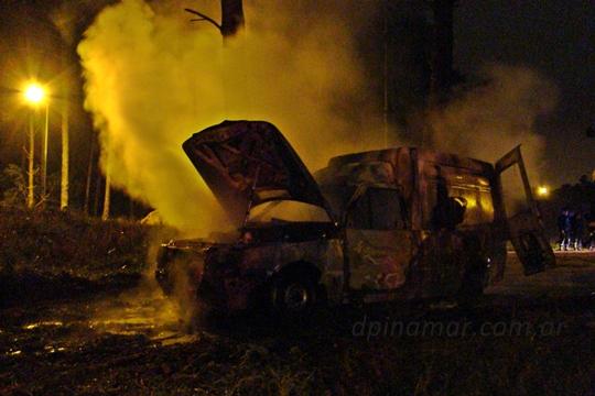 incendio camioneta