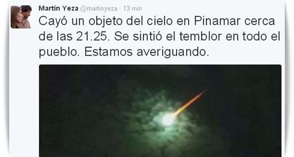 meteoro explosion yeza